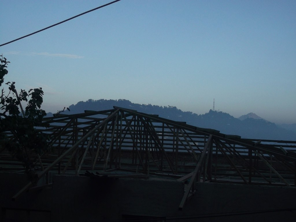 Wooden house base in Mussoorie