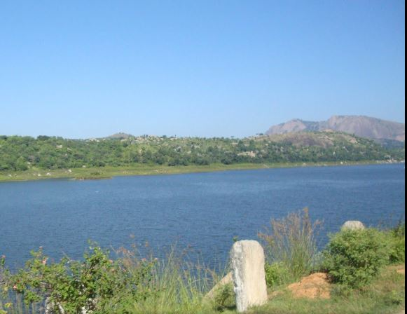 Kanva reservoir near Bangalore Mysore highway