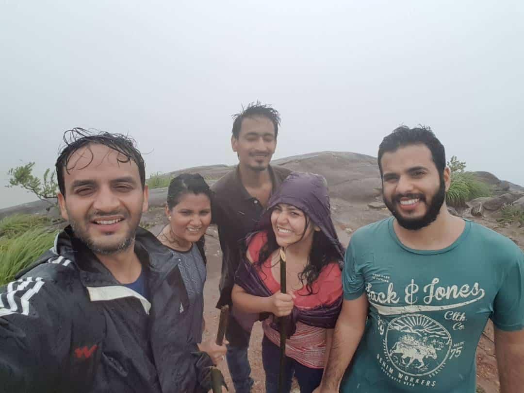 At Tadiandamol peak with Sumit, Kopai, Sagar and Nupur