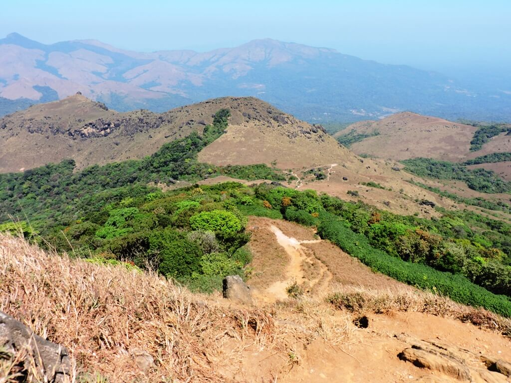 Steep trail near the end