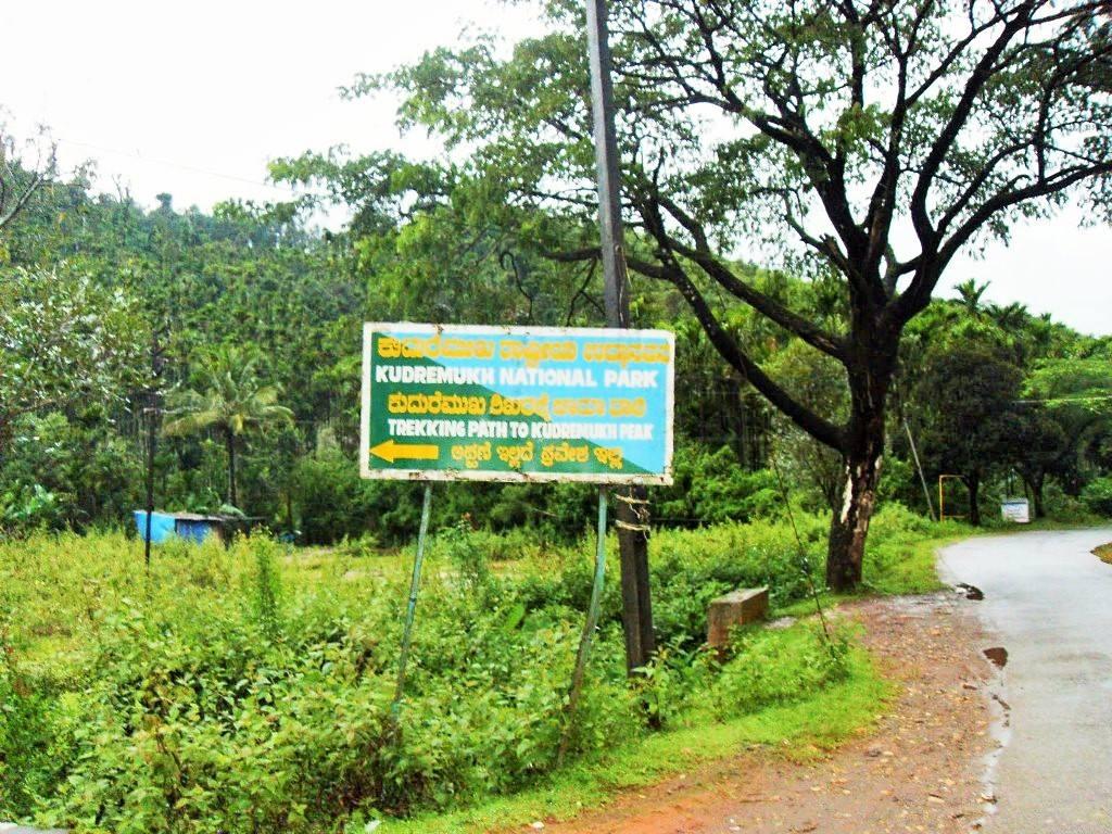 Kudremukh trekking board sign