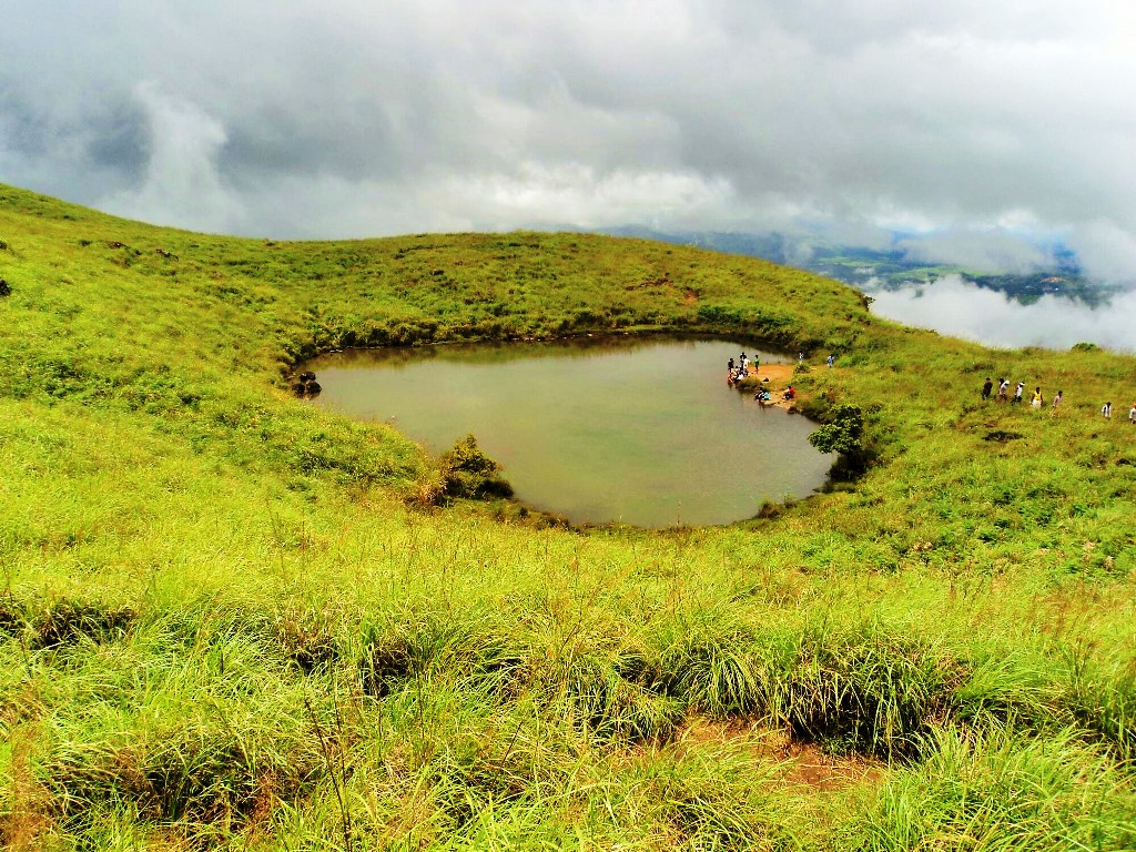 Chembra Peak Heart shaped lake, Wayanad, Kerala
