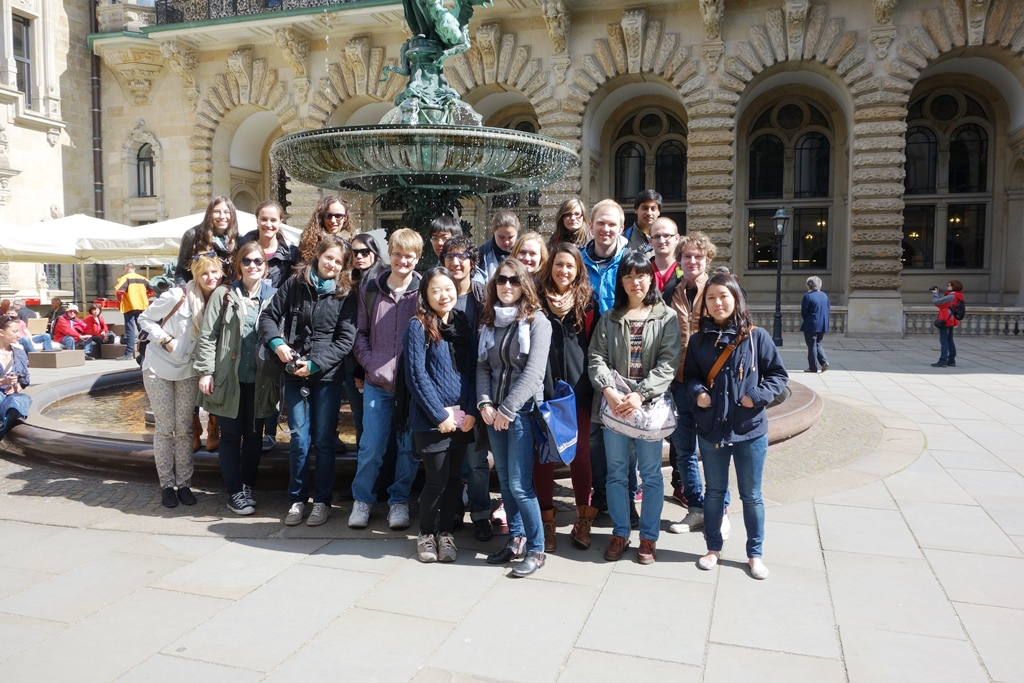 Visiting Hamburg from Freie University Berlin with the international student group