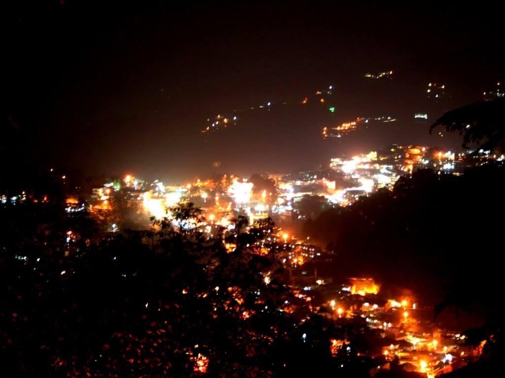 dehradun from Mussoorie at night