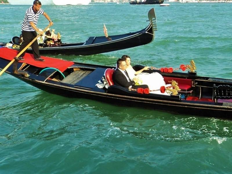 A Couple in Gondola at Venice