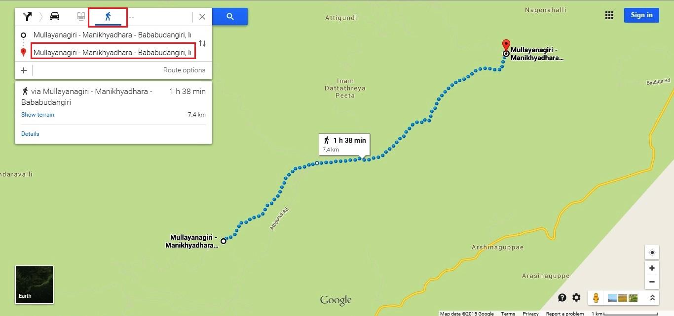 Mullayanagiri hiking trail named after destinations
