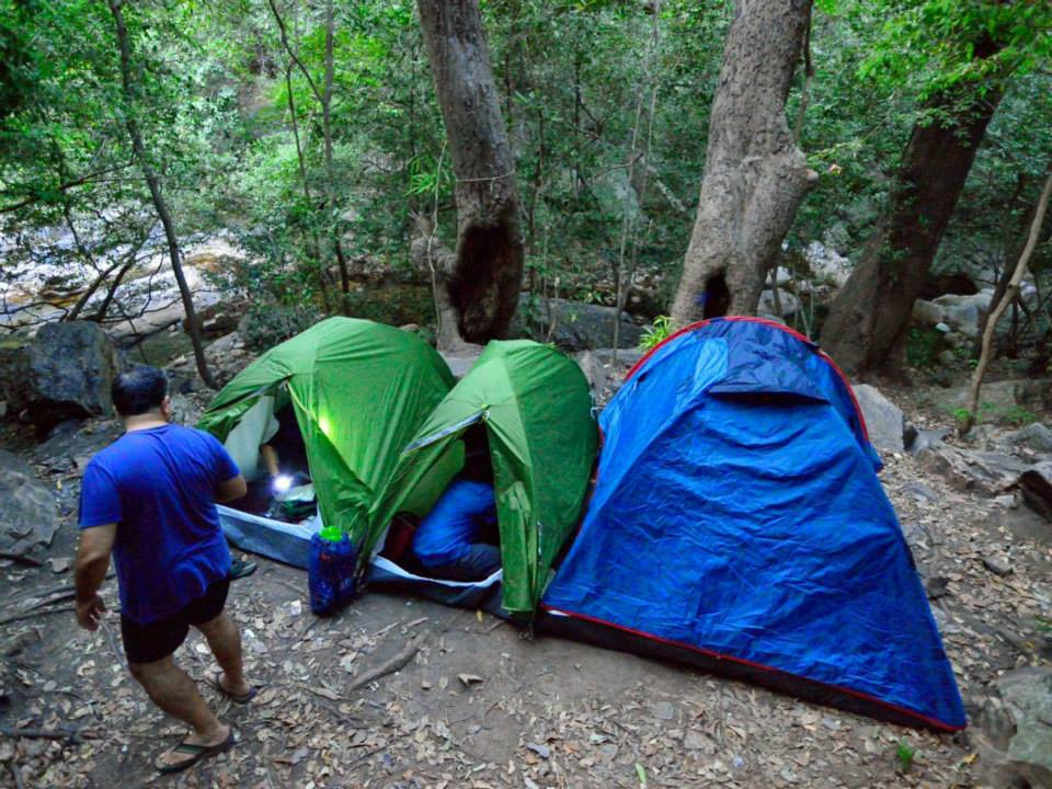 Camping western Ghats tents south India trek (1)