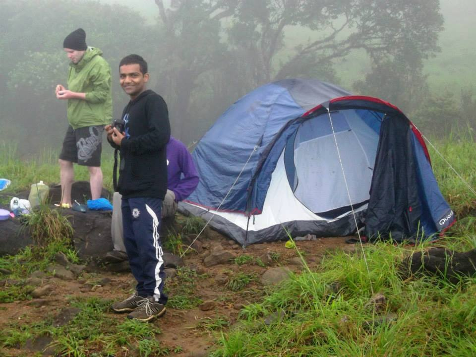 Camping western Ghats tents south India trek (2)