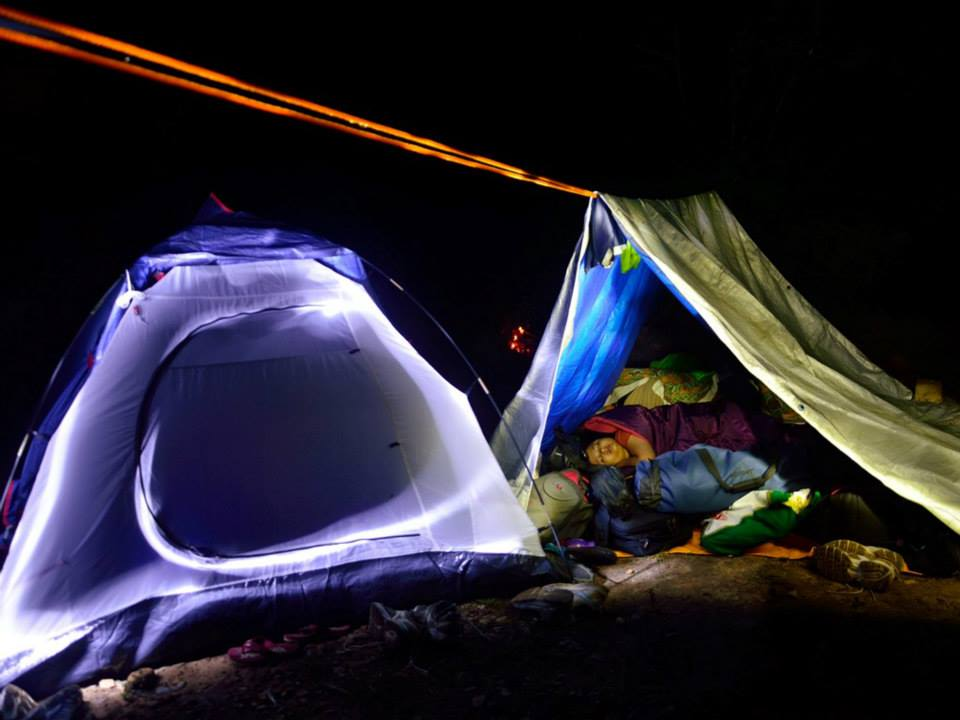 Camping western Ghats tents south India trek (3)