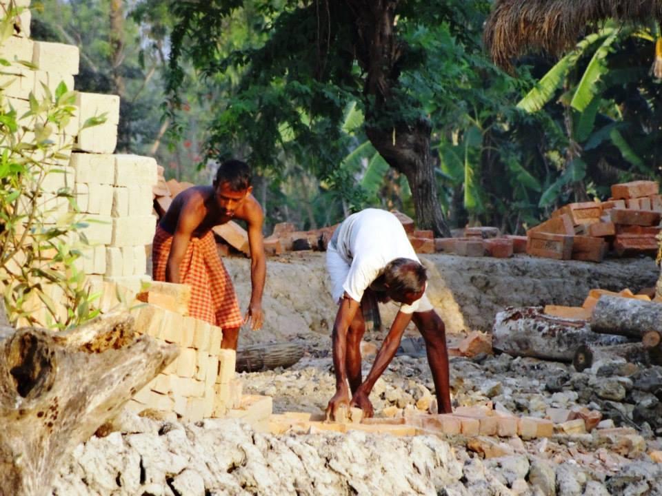 Baking bricks in SUndarbans