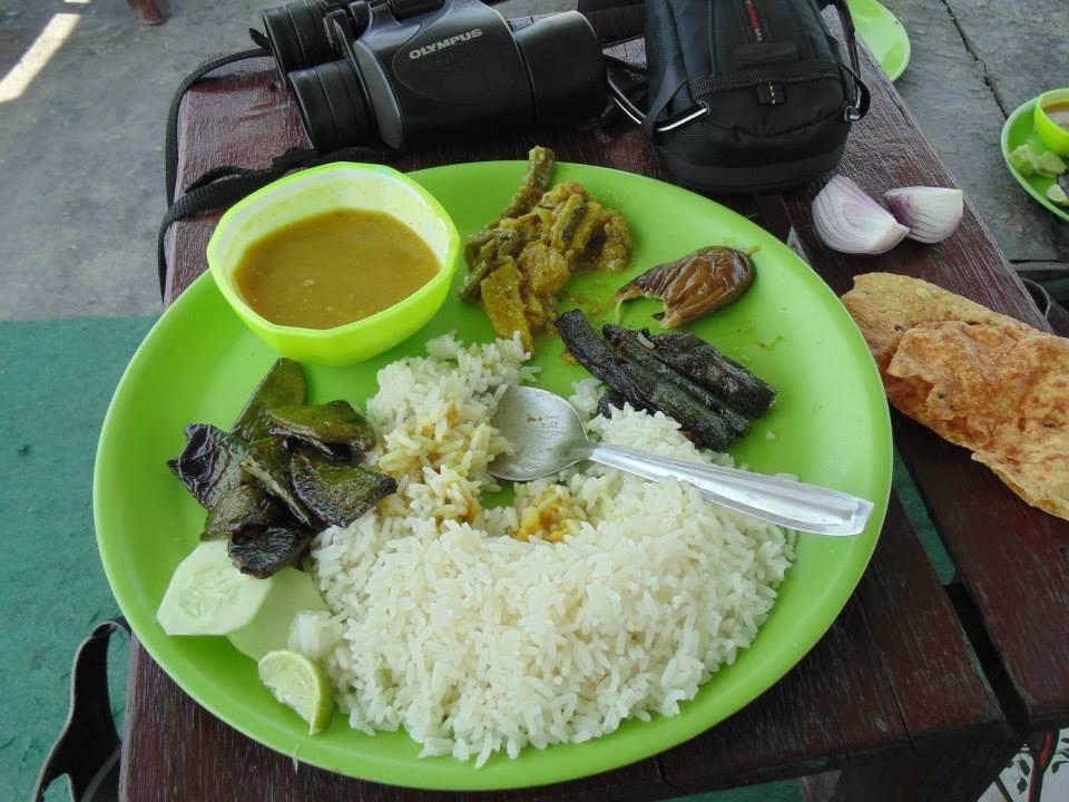 Authentic Bengali food at Eco village, Sundarbans