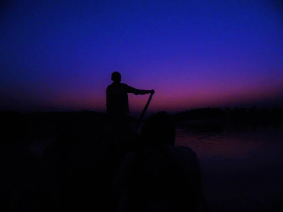 Returning to eco village from night safari, Sundarbans