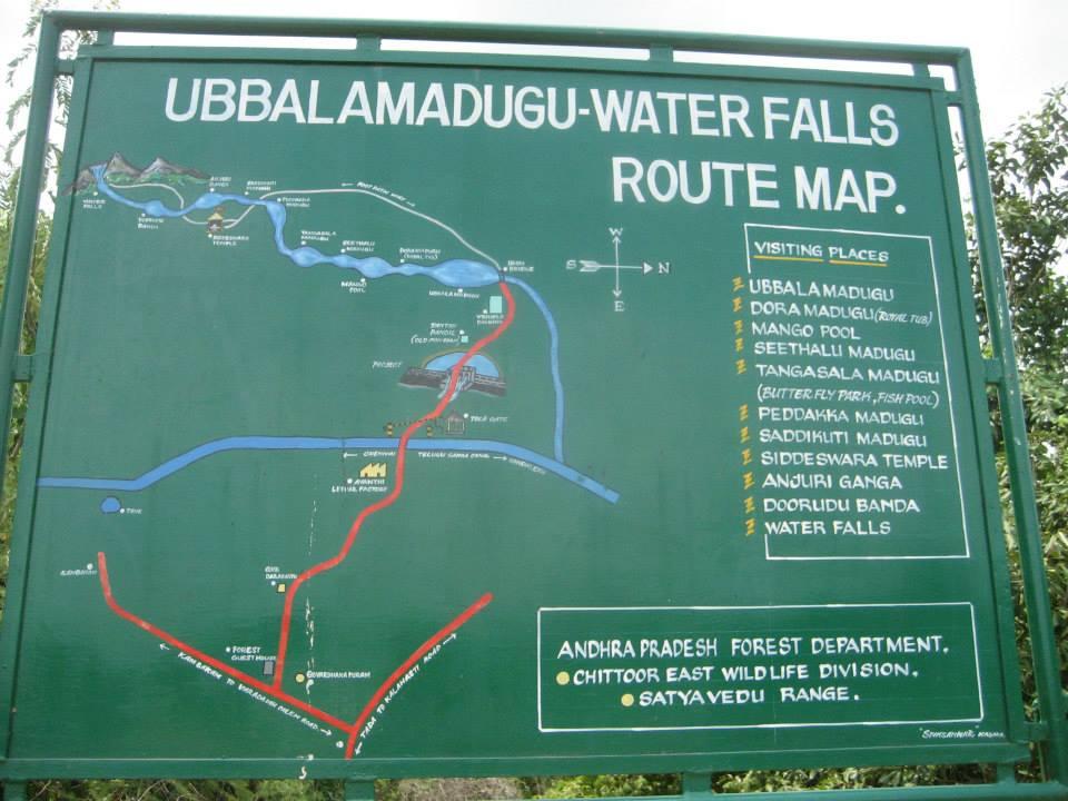 Tada falls route map
