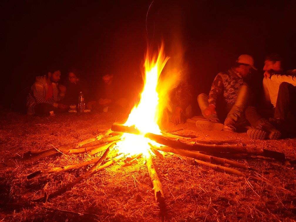 Anthargange trek camp fire