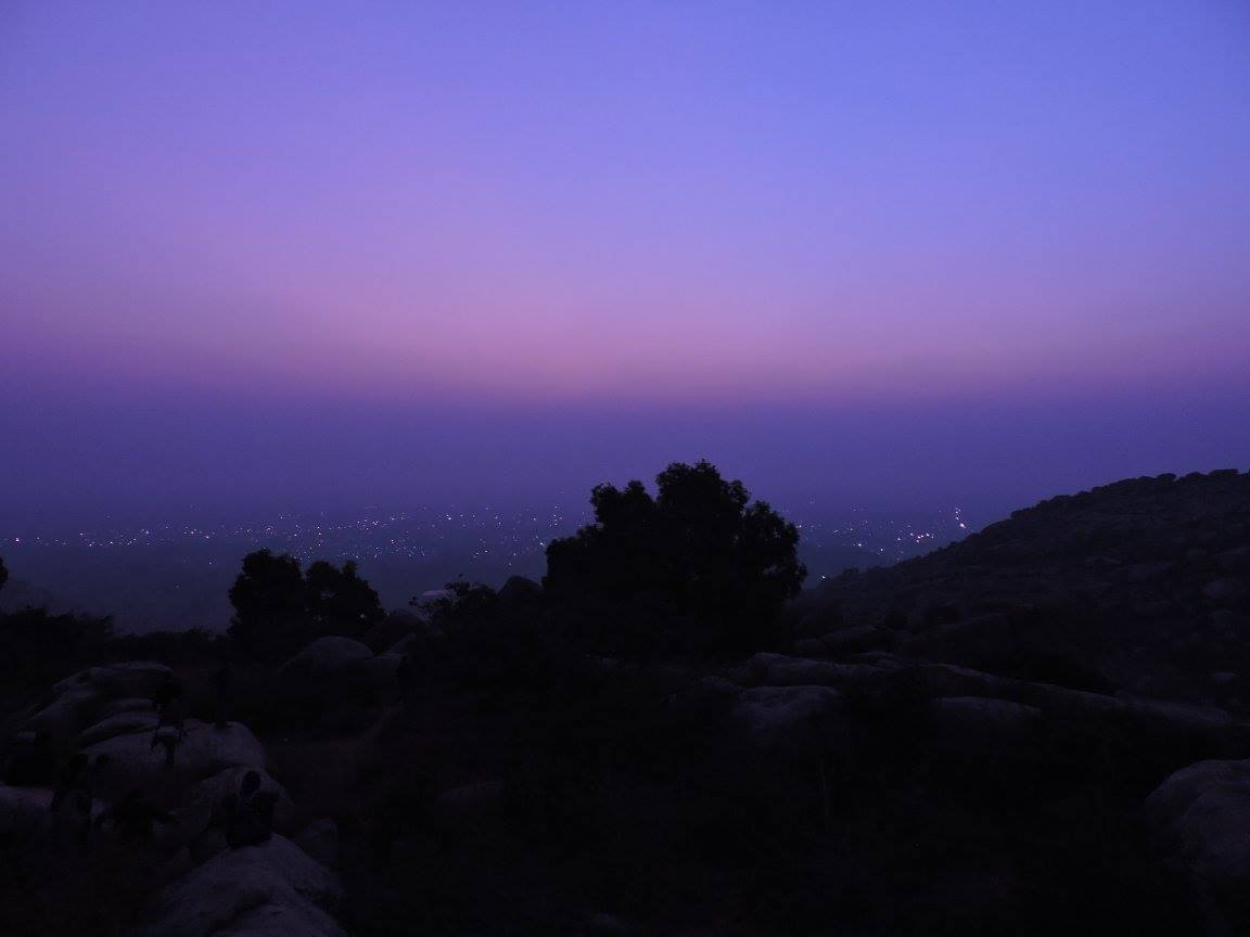 Kolar early morning from anthargange hills