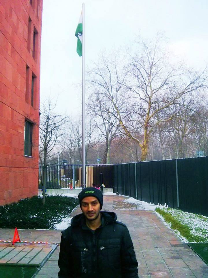 On Republic day at Indian Embassy in Berlin