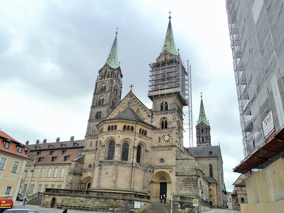 Four beautiful towers of Bamberg cathedral