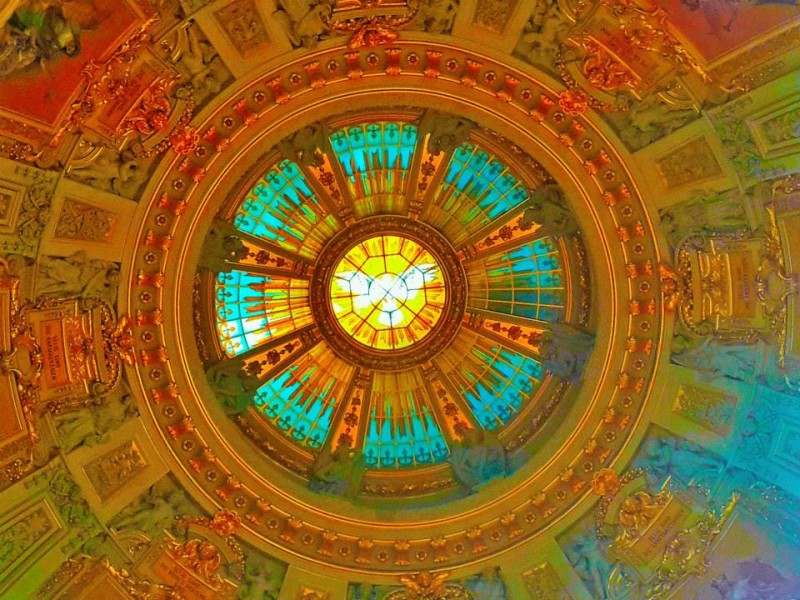 dome of berlin cathederal from inside