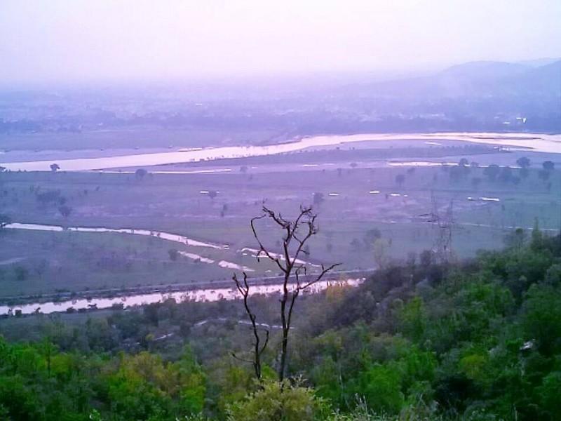 River Ganga from Chandi devi temple, hardidwar