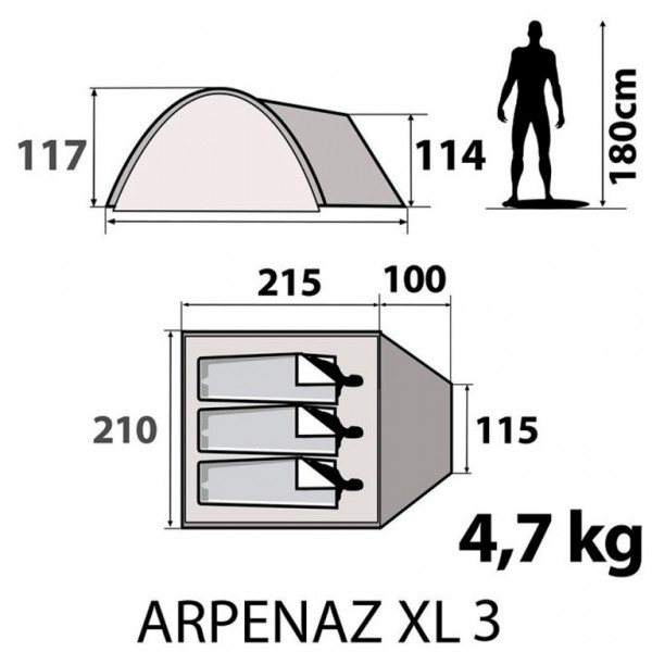 Arpenaz XL 3 tent specification