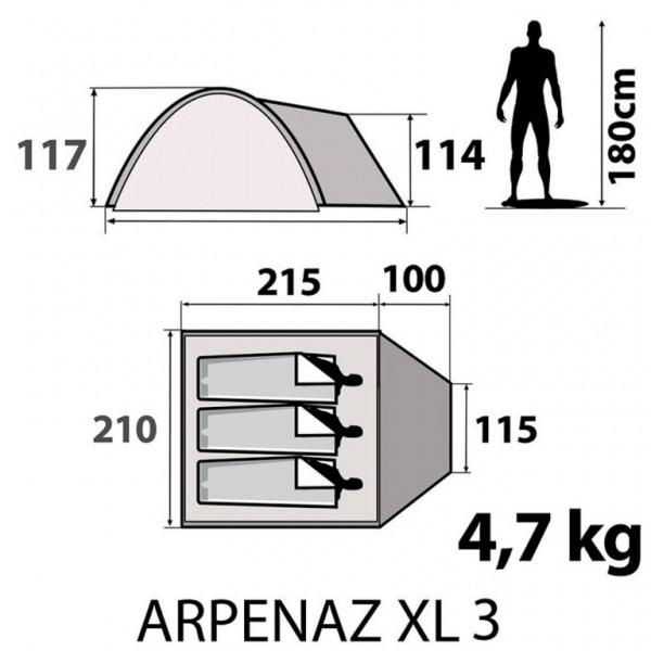 Arpenaz XL 3 tent specification