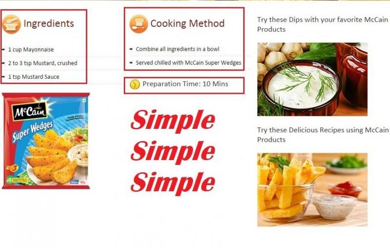 Simple preparation of Mccain snacks