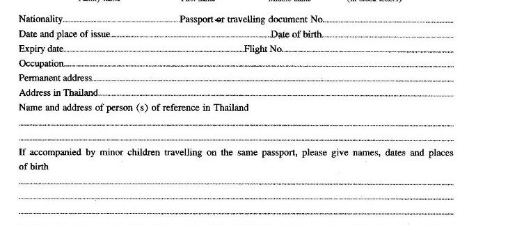 Thai Visa On Arrival Application Form Card Guide For Tourist Visa Trekkerpedia
