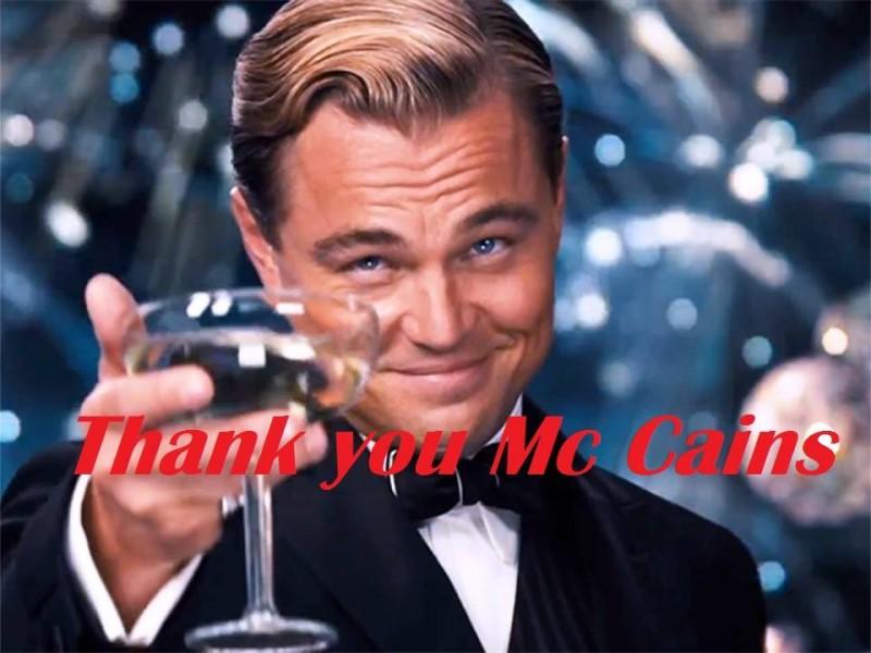 Thank you Mc cains