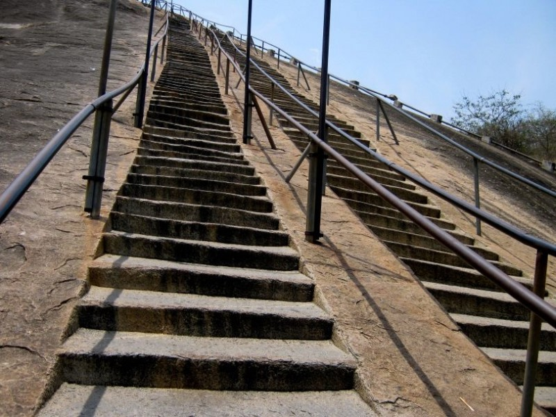 stone carved stairs, shravanabelagola