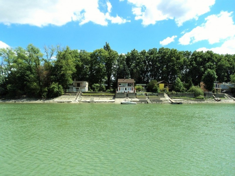 A house beside river Danube on the way to Szentendre by boat from Budapest