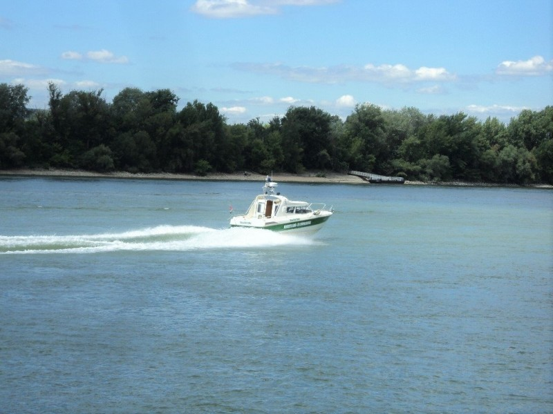 A speed boat in river Danube