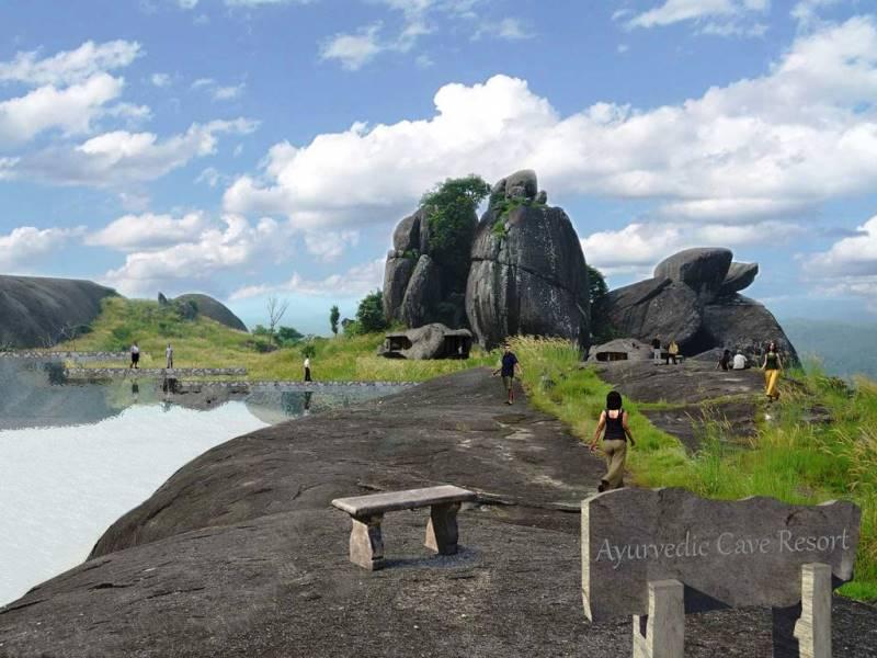 Ayurvedic cave resorts Jatayu nature park