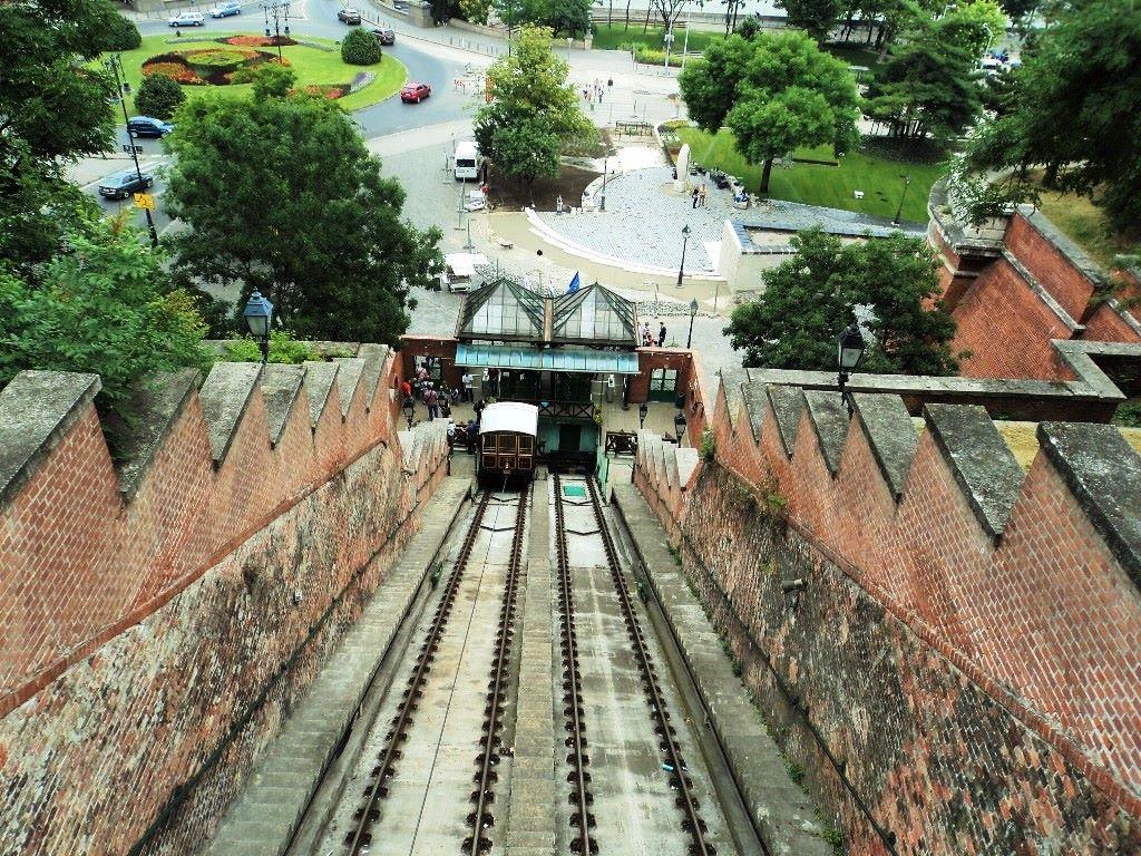 Buda Castle Budapest Tourist funicular
