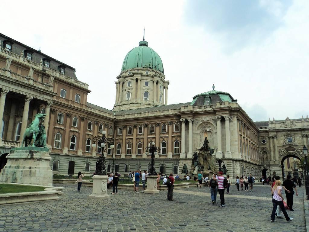 Buda castle before entering