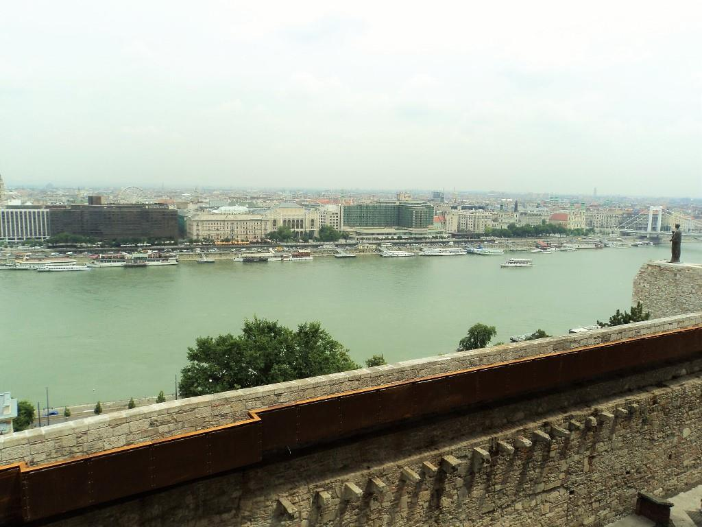 Danube river view from the Savoyai terrace, Buda castle