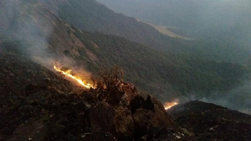 Kumara Parvatha fire