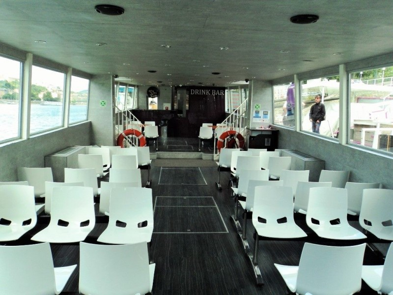 Lower deck of the boat to Szentendre
