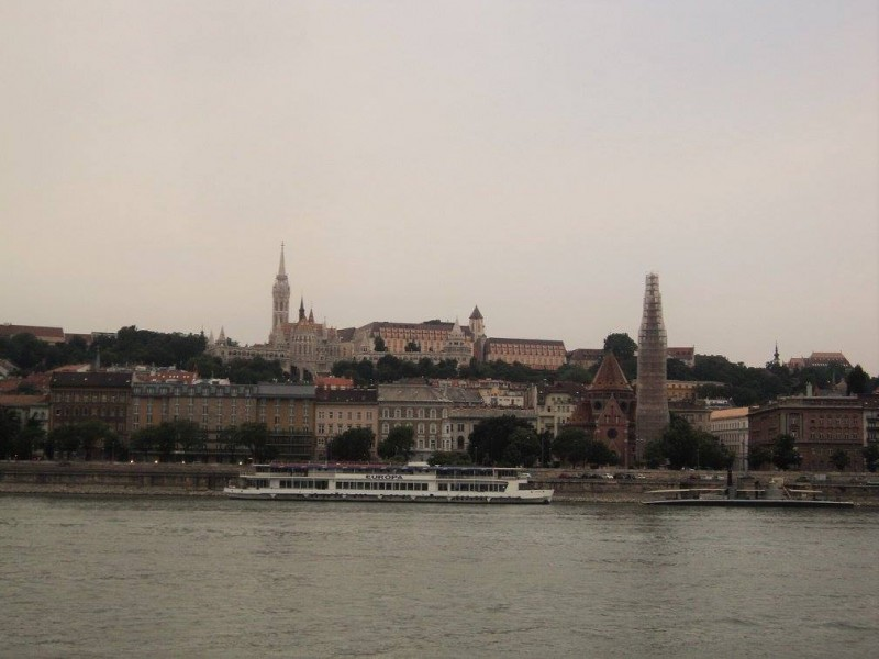 The Fisherman's bastion from Pest side across danube river
