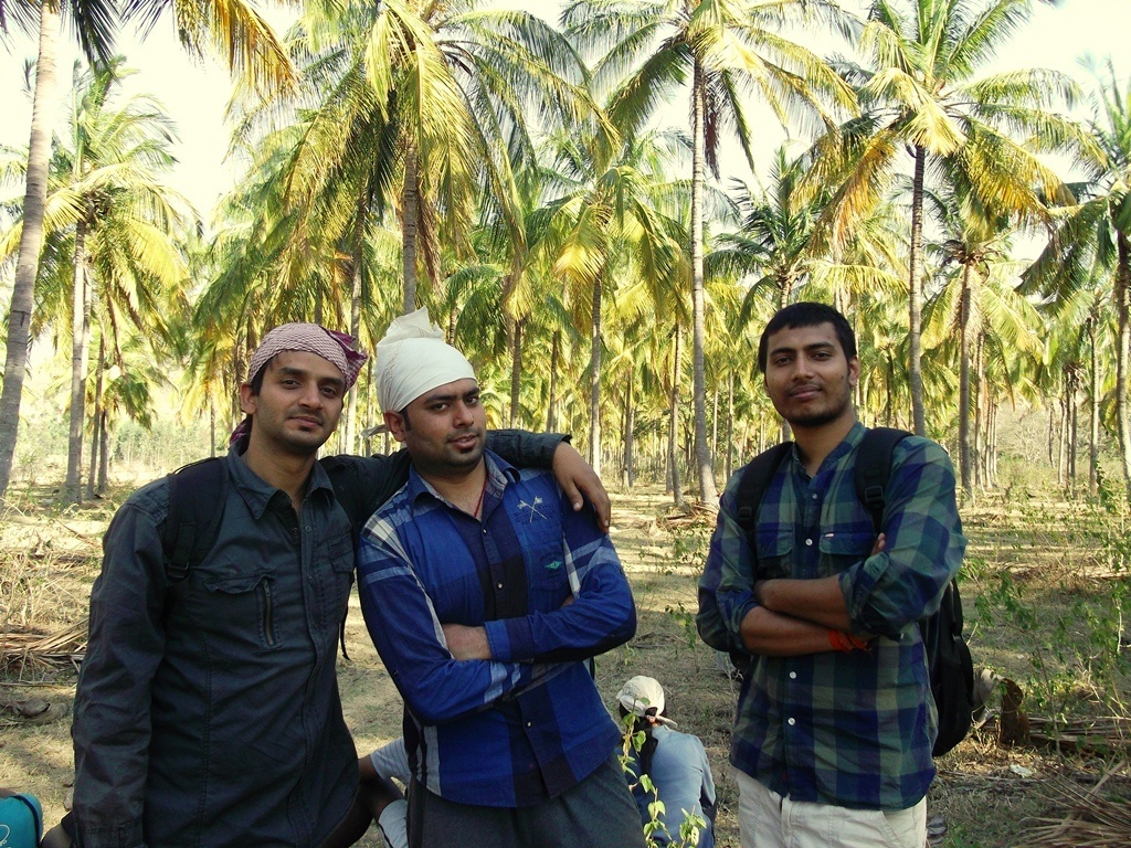 Vaibhav on the right, After Finishing the trek