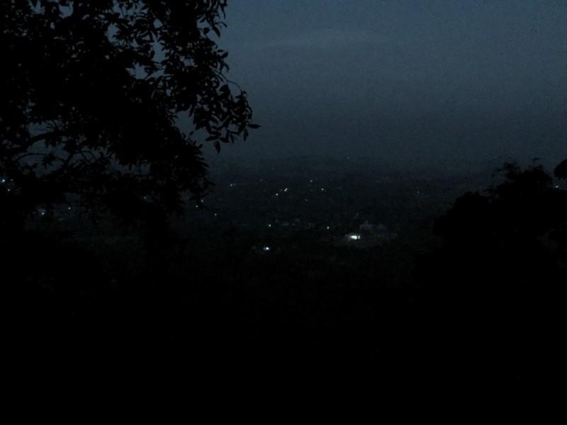 Salem view at night en route Yercaud