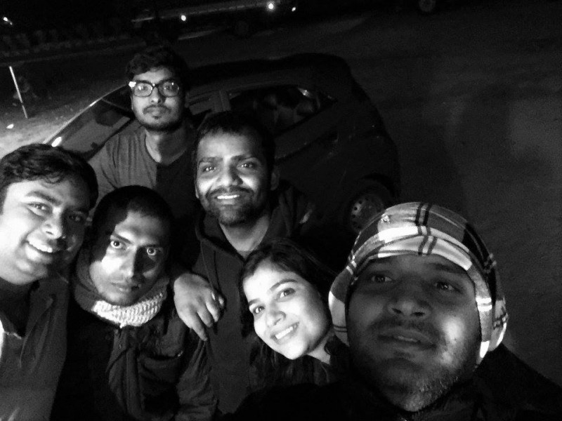 Selfie time near Dhrmapuri Dhaba