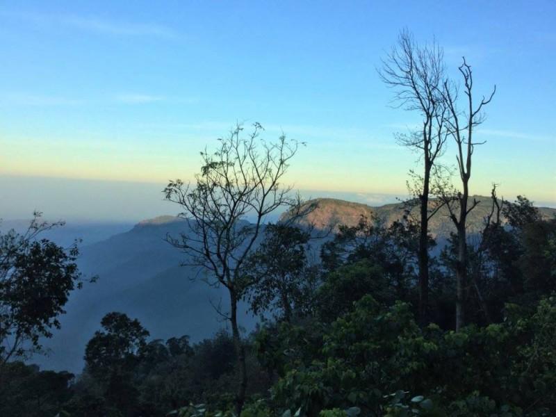 Sunrise on Yercaud hills