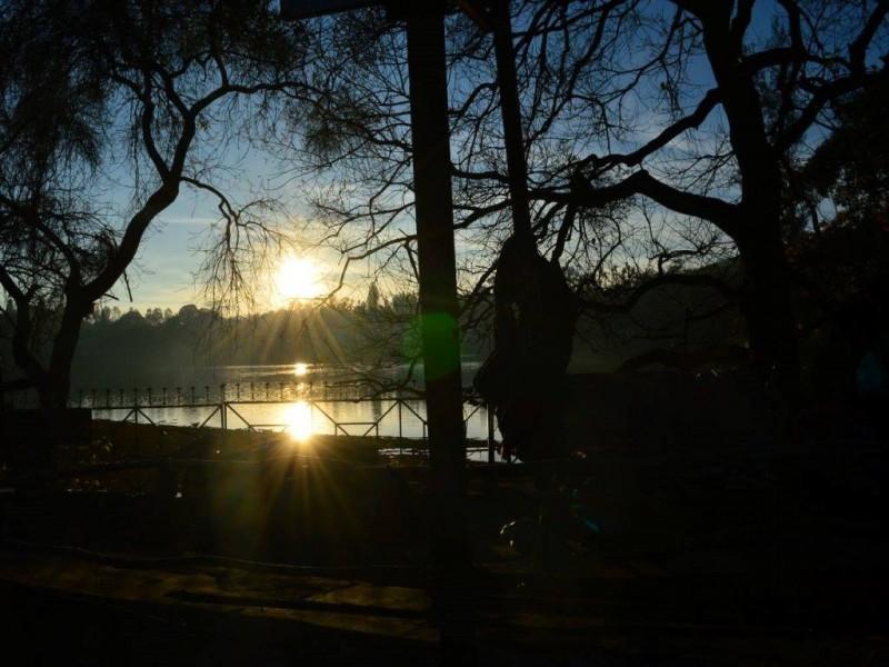 Sunrise on yercaud lake