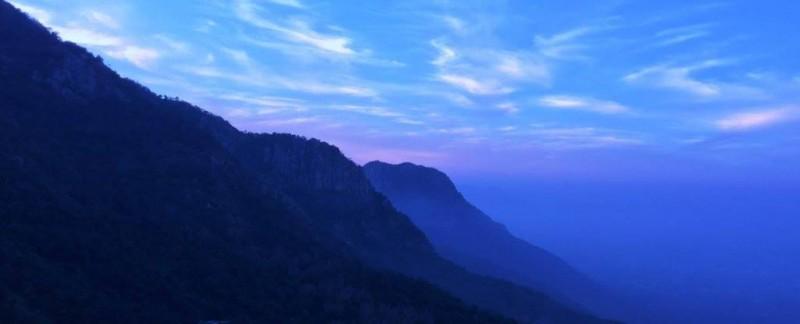 Yercaud hills just before the sunrise