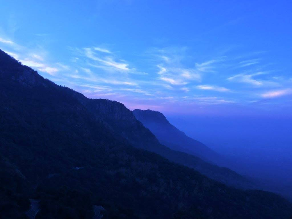 Yercaud hills just before the sunrise