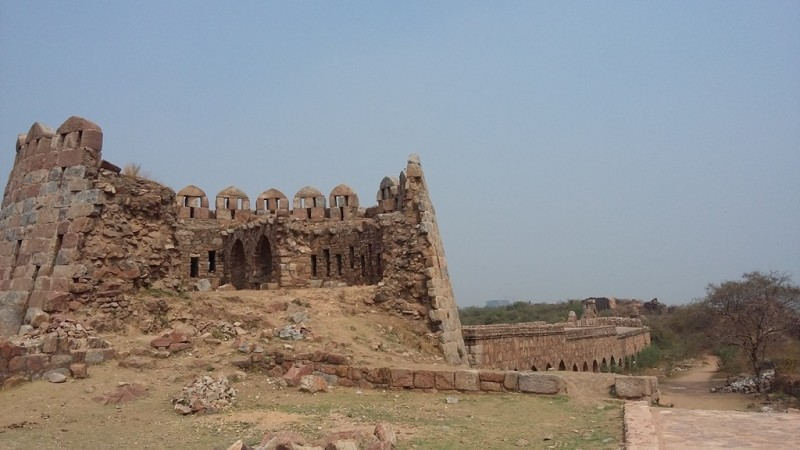 Remnants of Tughlaqabad fort, Delhi