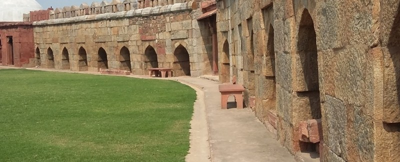 Tughlaqabad fort premises