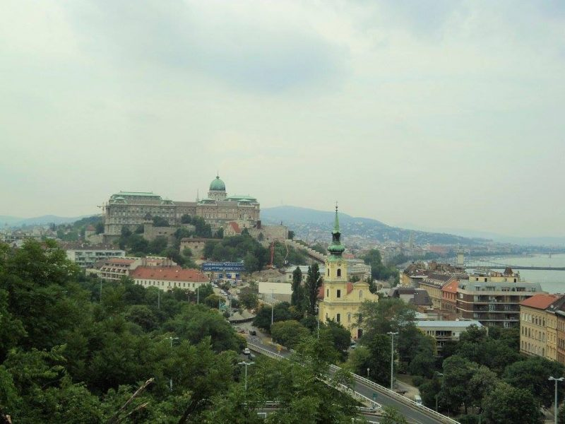 Buda castle from Gellert hill