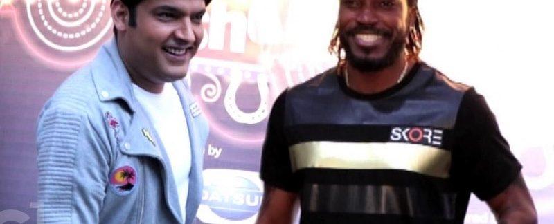 Kapil Sharma and Chris gayle on the Kapil Sharma show