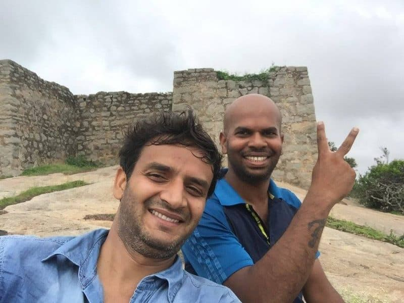 Madhugiri fort top